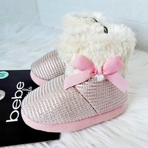 Bebe toddler girl slipper size L(9-10)